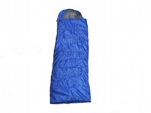 Lightweight Sleeping Bag With Elasticated Hood - Camping Warm Waterproof Cosy Zip Up